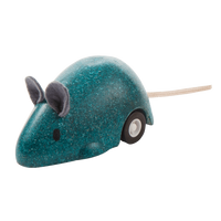 PlanToys - Moving Mouse-PlanToys-Blue-Grassroots Baby