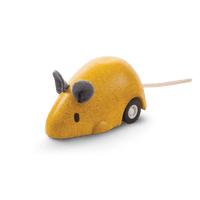 PlanToys - Moving Mouse-PlanToys-Yellow-Grassroots Baby
