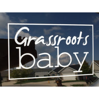 Grassroots Baby Window Decal - Grassroots Baby