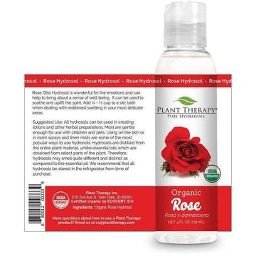 Plant Therapy - Rose Organic Hydrosol (4 oz)