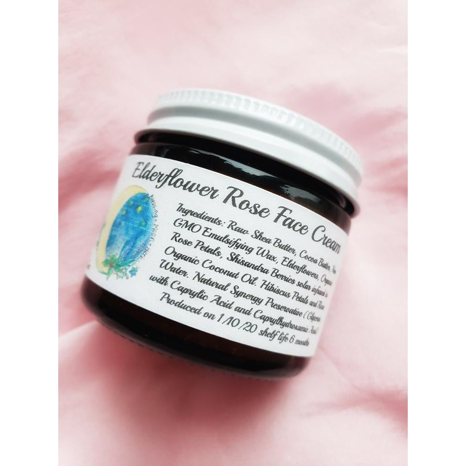 Blessing Moon Herbs - Elderflower Rose Face Cream - Grassroots Baby