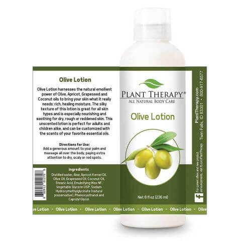 Plant Therapy - Olive Lotion (Unscented Base) 8 oz* - Grassroots Baby