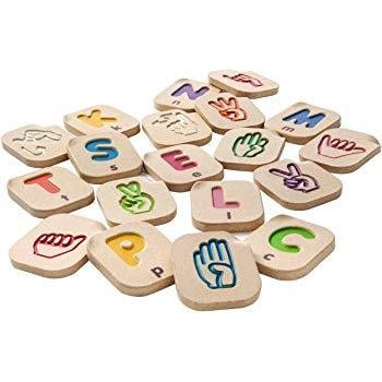 Plan Toys - Hand Sign Alphabet A-Z - Grassroots Baby