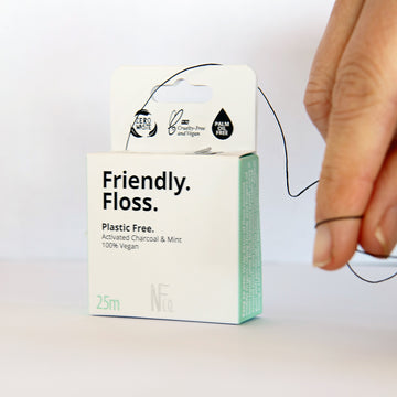 The Natural Family Company - Friendly Floss (Charcoal & Mint)