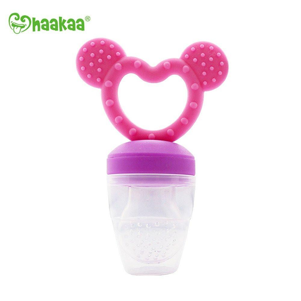 Haakaa - Fresh Food Teething Feeder (Pink) - Grassroots Baby