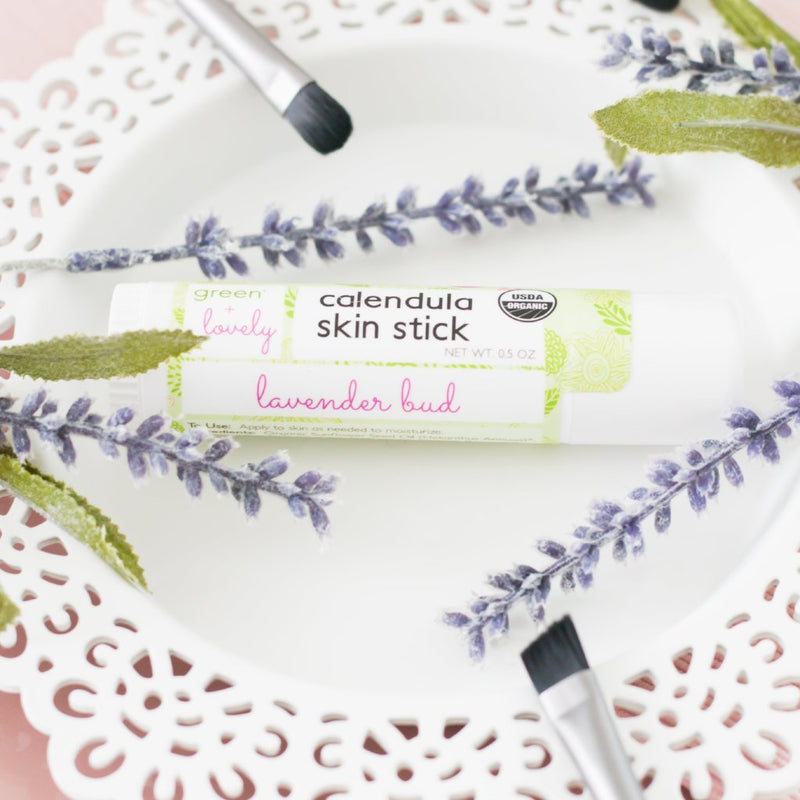 Green + Lovely - Calendula Salve Skin Stick - Lavender Bud - Grassroots Baby