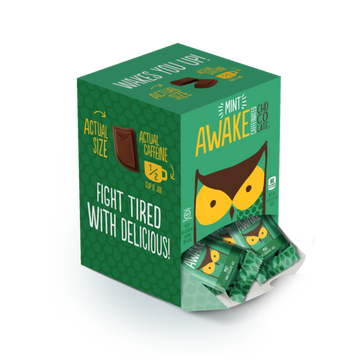 Awake - Caffeinated Chocolate Bars (Dark Chocolate Mint Bites)