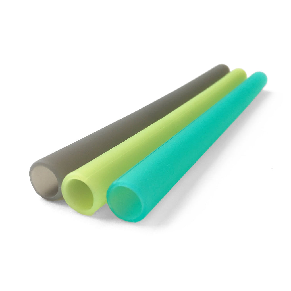 GoSili - Reusable Silicone Straws - Extra Wide - Multi - Grassroots Baby