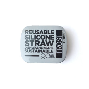 GoSili - Reusable Silicone Straws - Extra Long w/ Travel Tin - Grassroots Baby