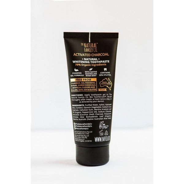 The Natural Family Company - BLAK Activated Charcoal Toothpaste - Grassroots Baby