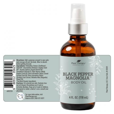 Plant Therapy - Body Oil (Black Pepper Magnolia)