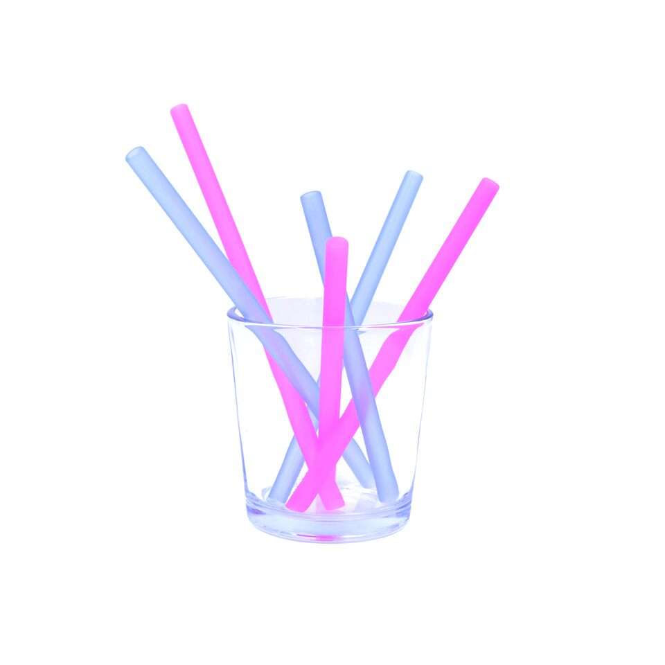 GoSili - Reusable Silicone Straws (Berry/Cobalt) - Grassroots Baby