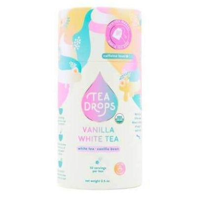 Tea Drops - Vanilla White Tea-Tea Drops-Recyclable Tube w/ 10 Drops-Grassroots Baby