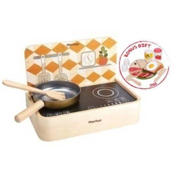 PlanToys - Portable Kitchen + Bonus Food Set-PlanToys-Grassroots Baby