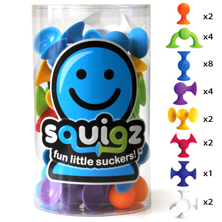 Fat Brain Toys - Squigz Starter Set (24pc) - Grassroots Baby