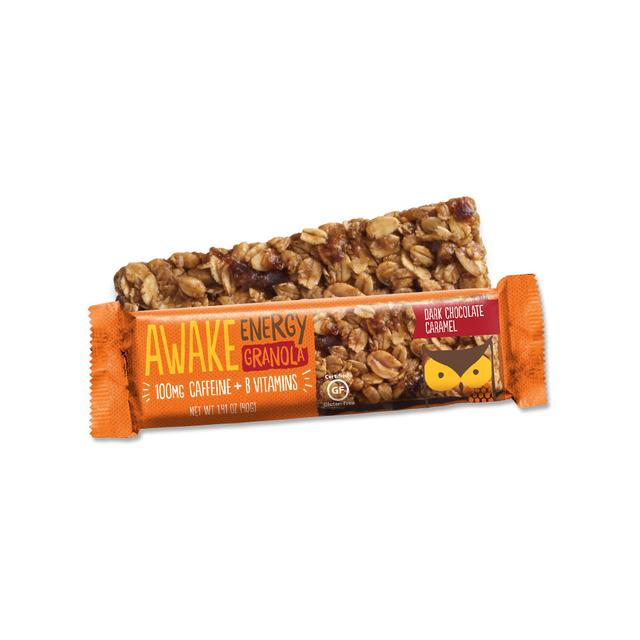 Awake - Caffeinated Granola Bars (Dark Chocolate Caramel) - Grassroots Baby