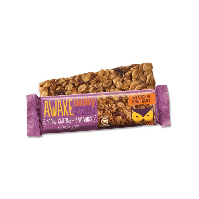 Awake - Caffeinated Granola Bars (Dark Chocolate Peanut Butter) - Grassroots Baby
