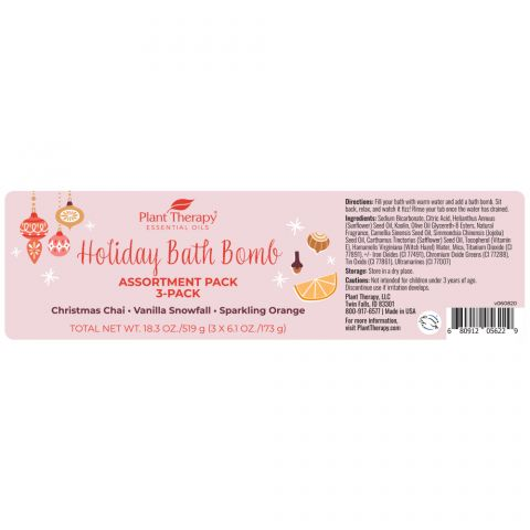 Plant Therapy - Holiday Bath Bomb Assortment