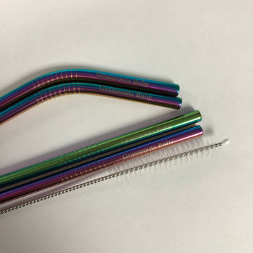 Grassroots Baby - Stainless Steel Straws (Rainbow)