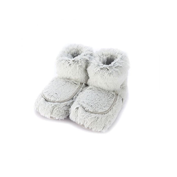 Warmies - Plush Boots Gray Marshmallow-Warmies-Grassroots Baby
