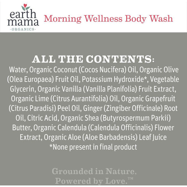 Earth Mama - Morning Wellness Body Wash* - Grassroots Baby