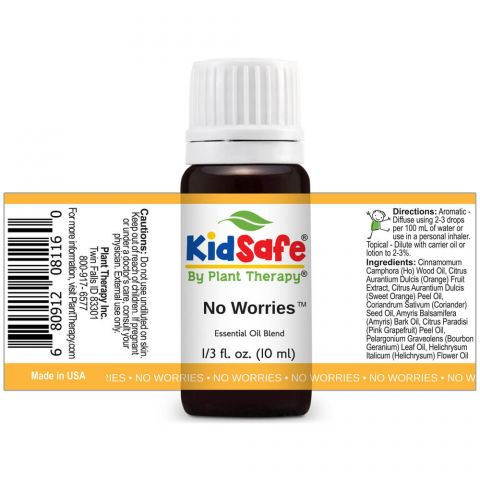Plant Therapy - No Worries KidSafe Essential Oil Blend - Grassroots Baby
