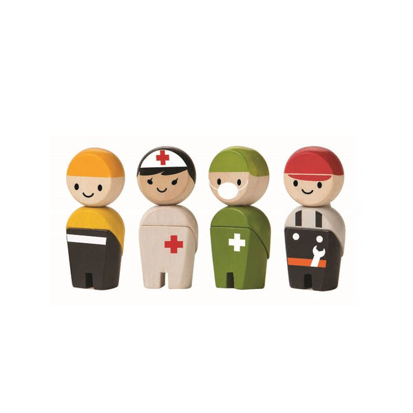 PlanToys - Wooden People Sets - Grassroots Baby