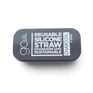 GoSili - Reusable Silicone Straws - Extra Wide w/ Travel Tin - Grassroots Baby
