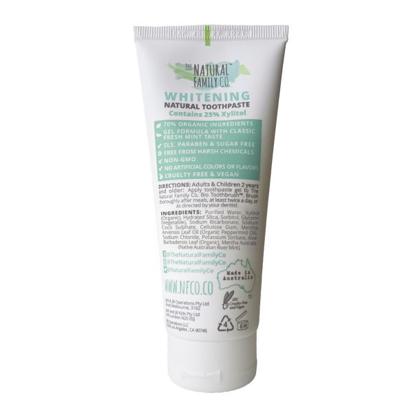 The Natural Family Company - Whitening Toothpaste-The Natural Family Company-Grassroots Baby