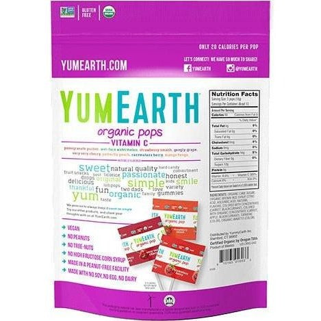 YumEarth - Organic Pops w/ Vitamin C - Grassroots Baby