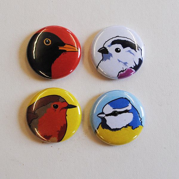 Badges - Birds that like gardens