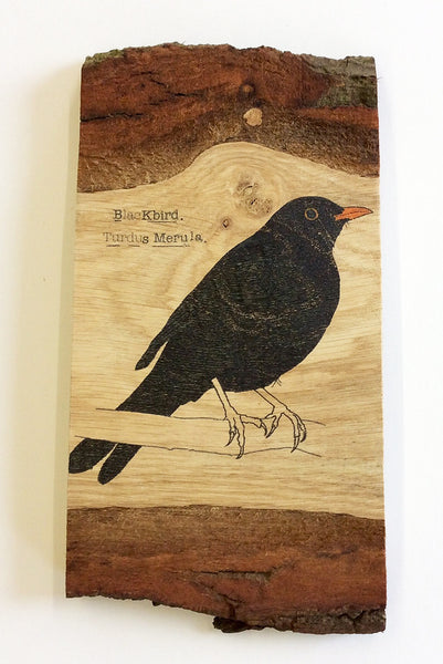 Blackbird Wood Art