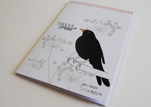 A5 Bird Notebook - Blackbird