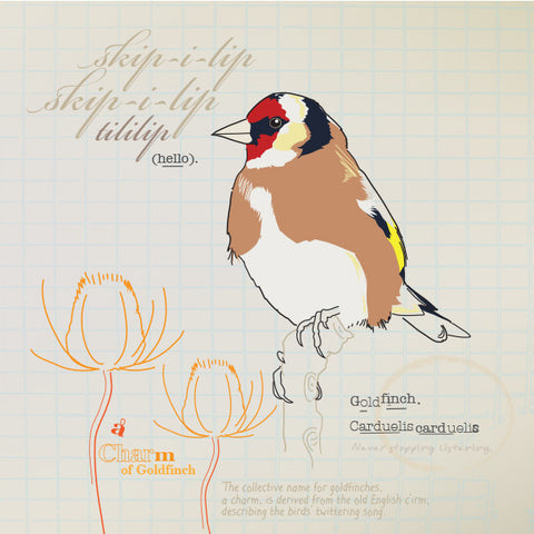 Goldfinch greeting card.