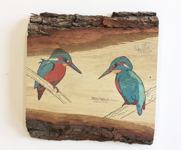 Kingfisher Wood Art