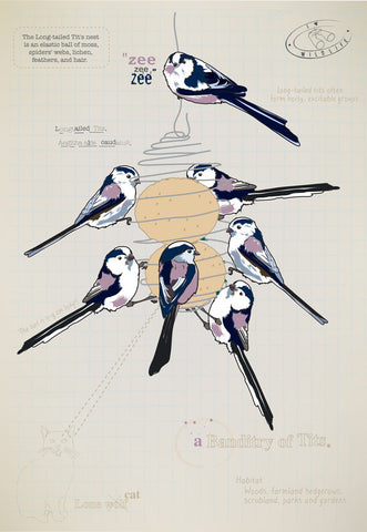 Longtailed tit Ltd Ed. print