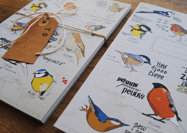 A5 Bird Notebook - Noisy isn't it.