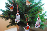 Cut out hanging birds set.