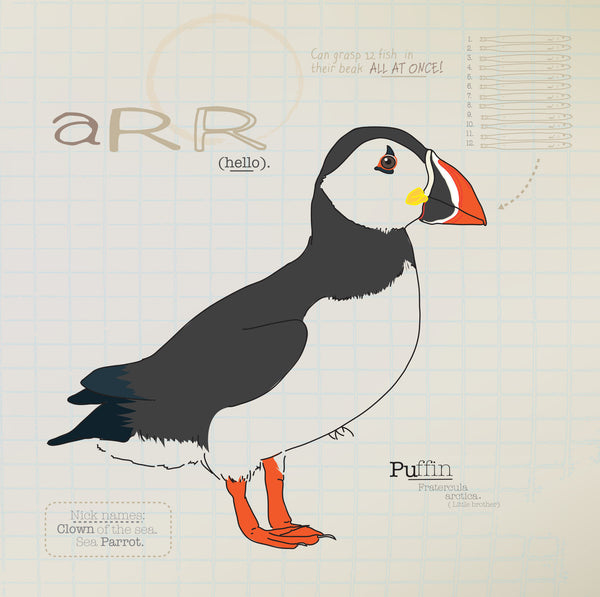 Puffin greeting card.