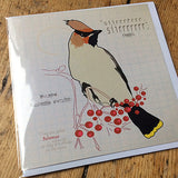 Waxwing greeting card.