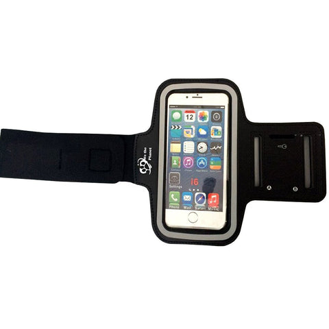 "Premium Sports Armband (Black) For Apple iPhone 6, 5s, 5, Samsung Galaxy s4 | Adjustable, Nonslip, Comfortable To Wear | Fits Any Smartphone With 5.2"" Screen"