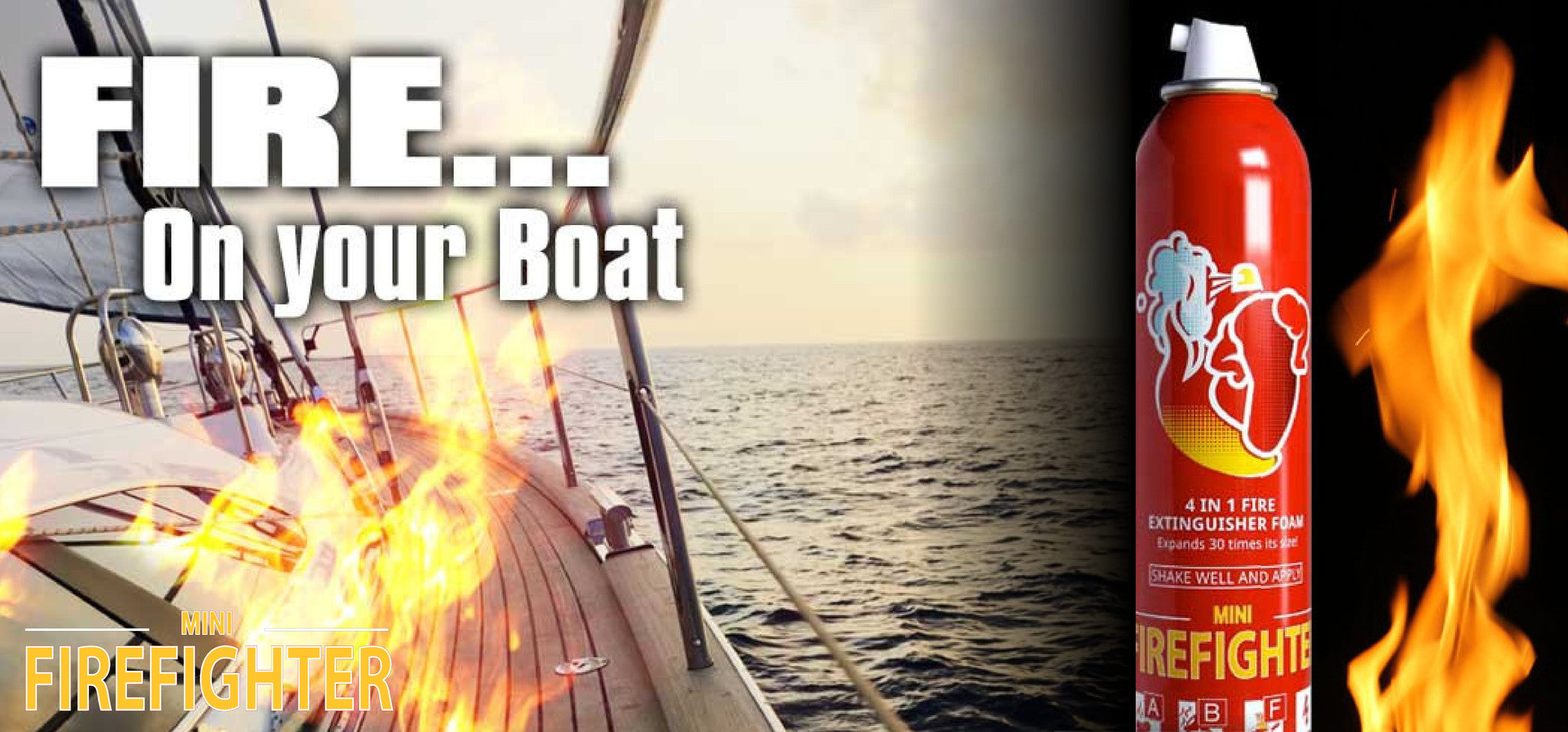 boat fire, boat fire extinguisher