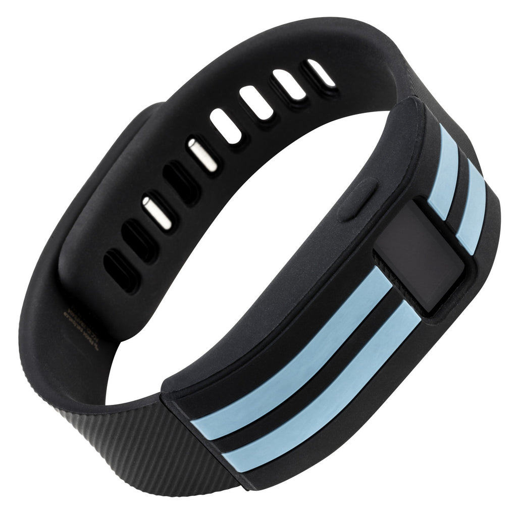 Sport sleeve designed for Fitbit Charge™  and Charge HR - WITHit Black with Slate Stripe