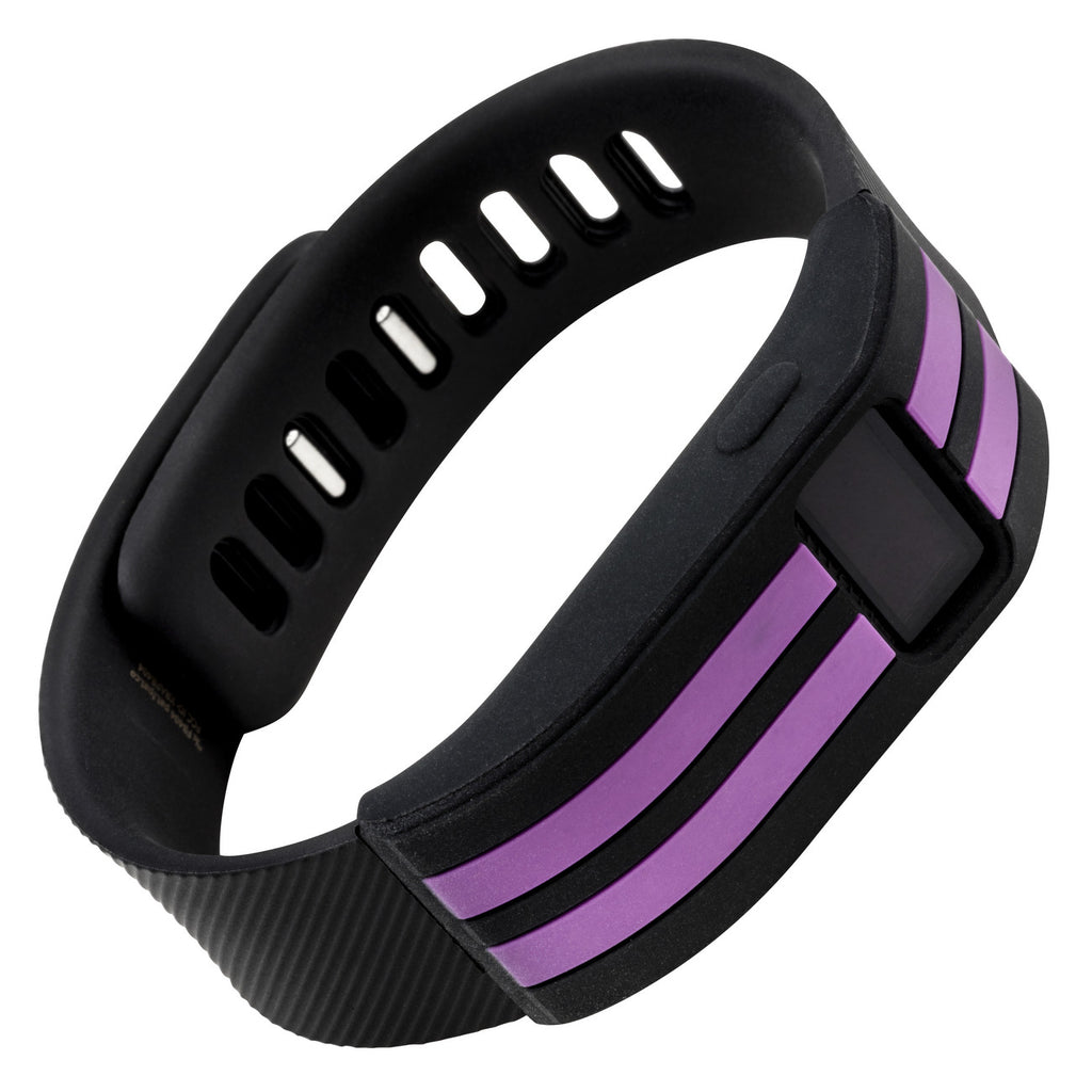 Sport sleeve designed for Fitbit Charge™  and Charge HR - WITHit Black with Plum Stripe