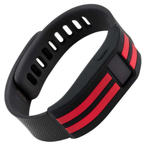 Sport sleeve designed for Fitbit Charge™  and Charge HR - WITHit Black with Red Stripe
