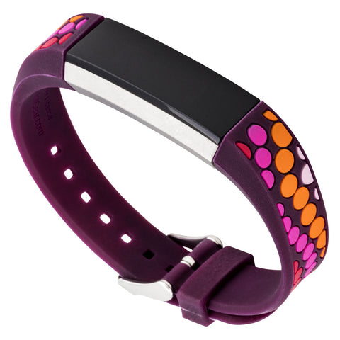 Designer Silicone Band for Fitbit Alta by French Bull in Purple Bindi