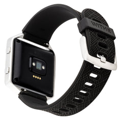 WITHit Silicone Band for Fitbit Blaze in Safiano Pattern - Black