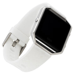 WITHit Silicone Band for Fitbit Blaze in Safiano Pattern - White