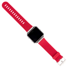 WITHit Silicone Band for Fitbit Blaze in Safiano Pattern - Red