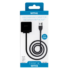 3 Foot Charging Cable for Fitbit® Blaze™ by WITHit  - Black